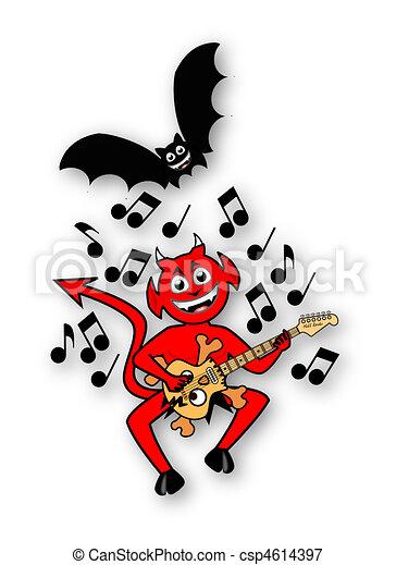 Little Imp Playing Guitar - csp4614397