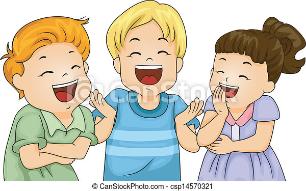 little kids laughing illustration of little male and female rh canstockphoto com laughing clip art sound laughing clip art moving free