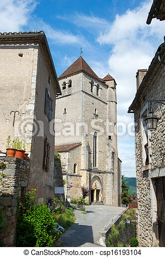 Little lane Saint-cirq-Lapopie - csp16193104