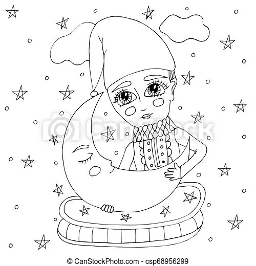 Tree moon stars zendoodle | Moon coloring pages, Sun coloring ... | 470x450