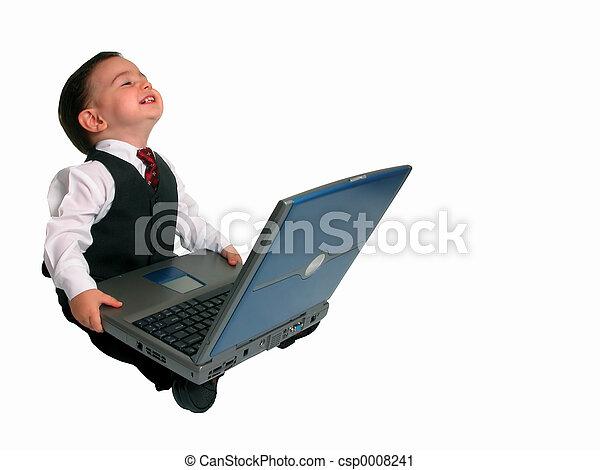 Little Man w/Laptop - csp0008241