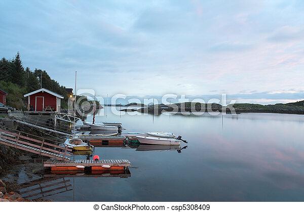Little marina in twilight - csp5308409