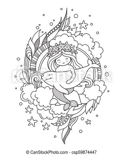 1010+ Coloring Book Little Mermaid Free