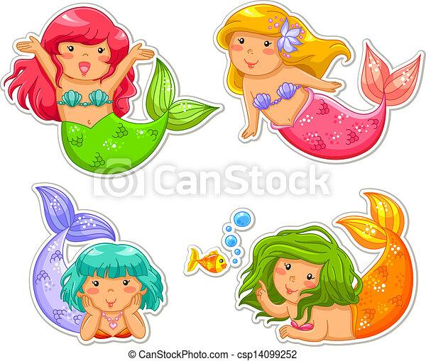 little mermaids - csp14099252