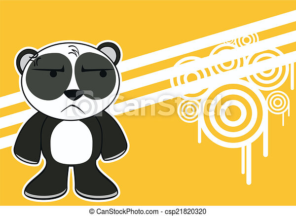 little panda bear cartoon postal7 little panda bear cartoon