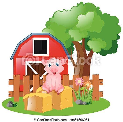 Little Pig On The Farm