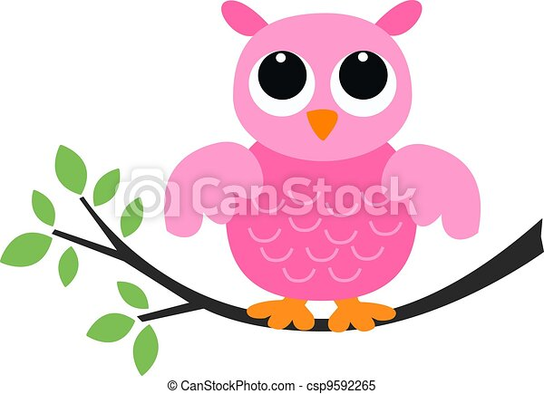 little pink owl - csp9592265