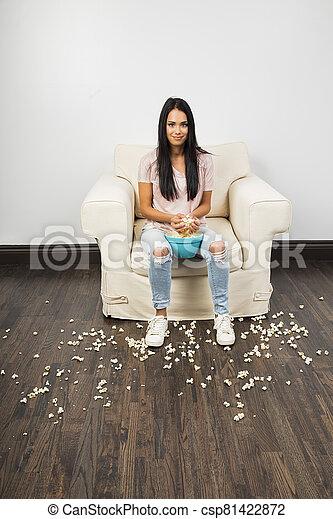 little popcorn menace - csp81422872