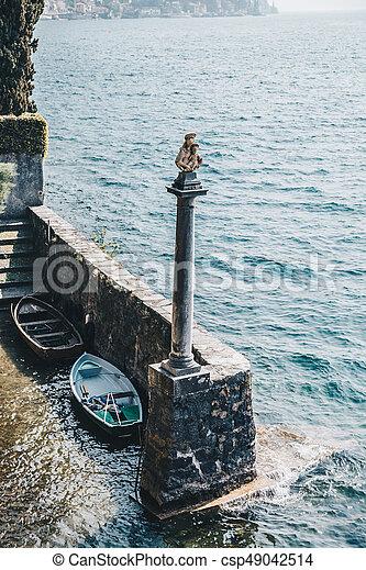 Little port on como lake italy. - csp49042514