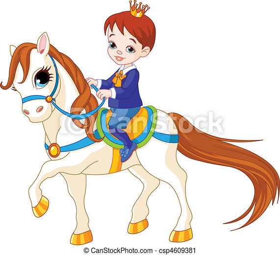 Little prince on horse - csp4609381