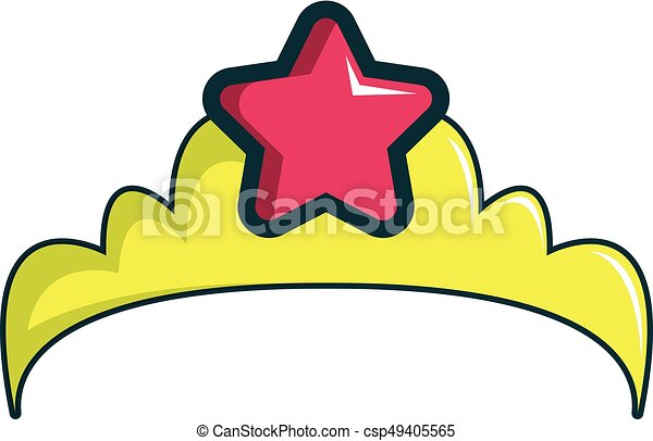 little princess crown icon cartoon style little princess clip rh canstockphoto com princess crown clipart vector princess crown clipart images