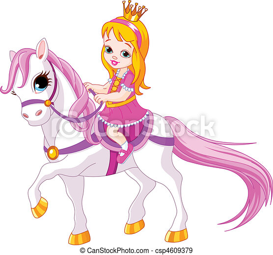 Little princess on horse - csp4609379