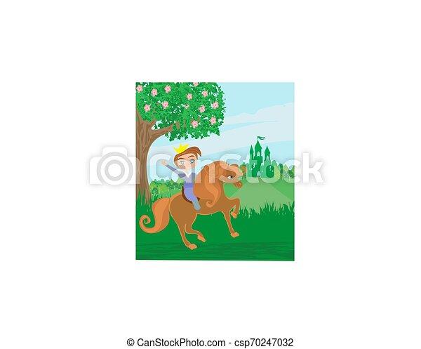 Little princess on horse - csp70247032