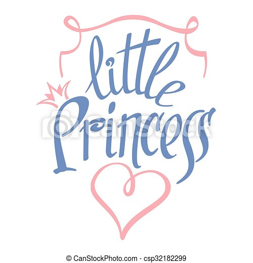 Little Princess vector lettering for girl t-shirt design - csp32182299