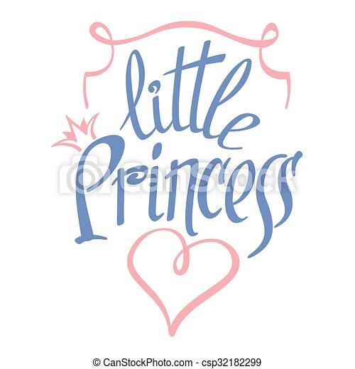 Little Princess vector lettering for girl t-shirt design - csp32182299