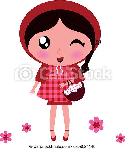 Cartoon Drawing Red Riding Hood