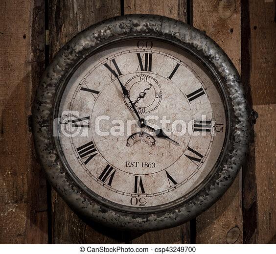little retro clock on the wall - csp43249700