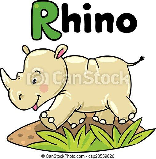 R Is For Rhinoceros Alphabet Letter