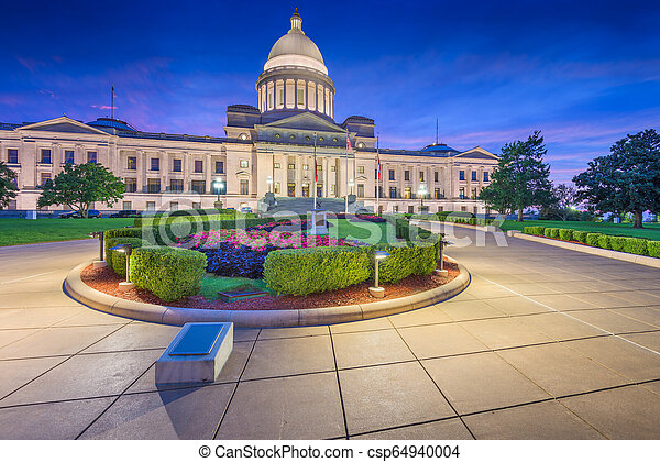 Little Rock, Arkansas, USA at the state capitol - csp64940004