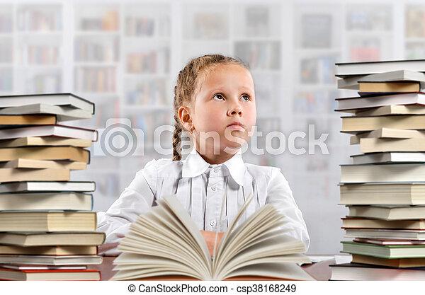 Little school girl - csp38168249