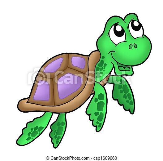 Little sea turtle purple - csp1609660
