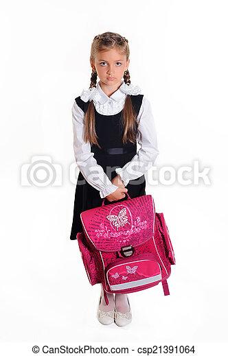 little student girl - csp21391064