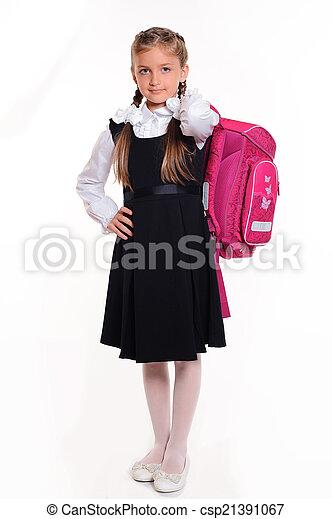 little student girl - csp21391067
