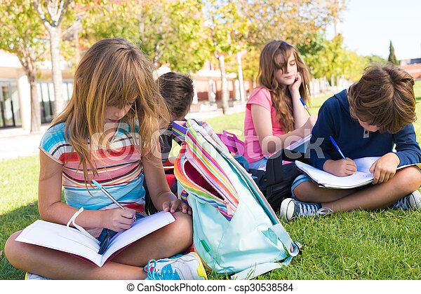 Little students at School Campus - csp30538584
