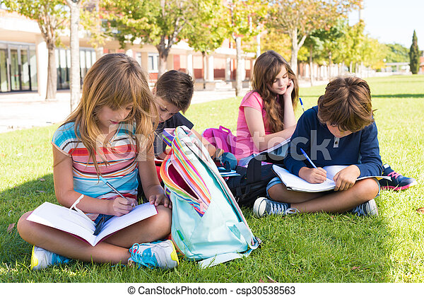 Little students at School Campus - csp30538563