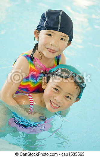 Little Swimmers - csp1535563