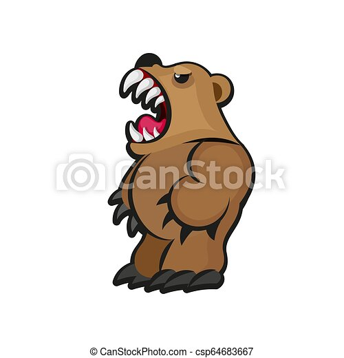 Little teddy bear character - csp64683667