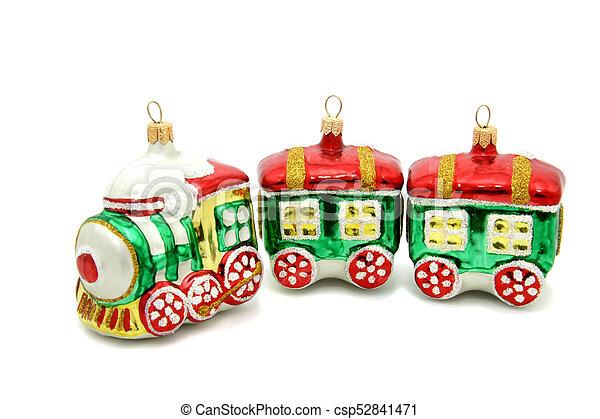 Little train christmas tree toy - csp52841471