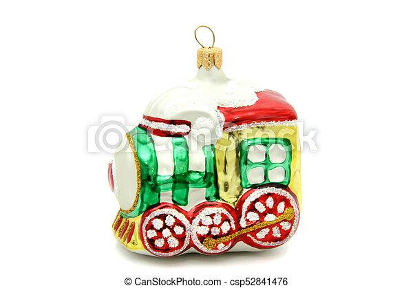 Little train christmas tree toy - csp52841476