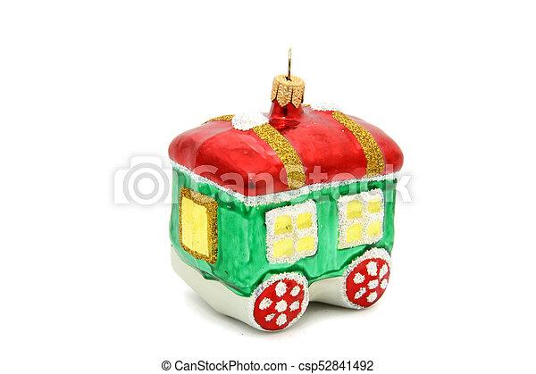 Little train christmas tree toy - csp52841492