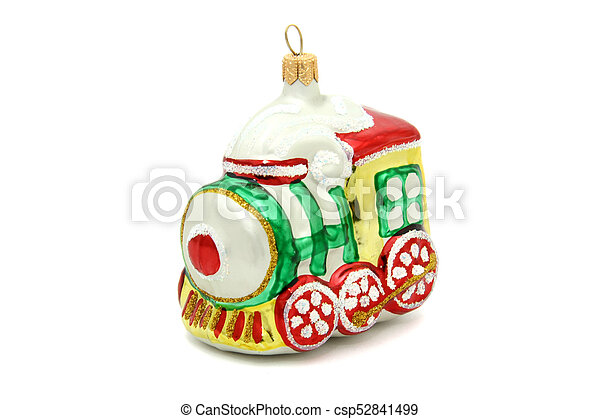 Little train christmas tree toy - csp52841499