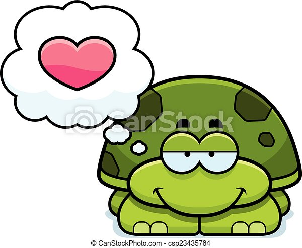 Little Turtle in Love - csp23435784