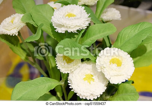 Little white artificial flowers for home decor pretty white little white artificial flowers for home decor csp51559437 mightylinksfo