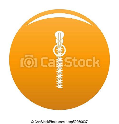 Little zip icon orange - csp59360637