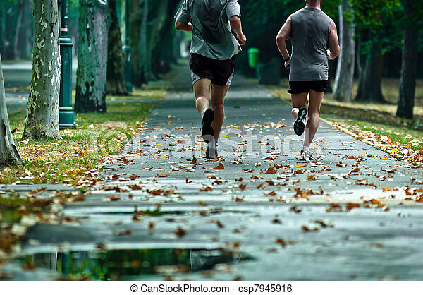 Live a healthy life, run every day with your friends - csp7945916