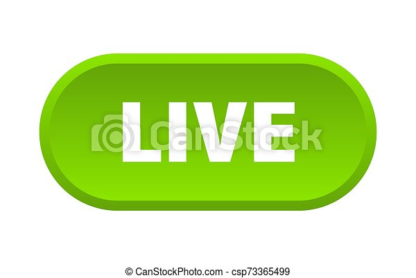 live button. live rounded green sign. live - csp73365499