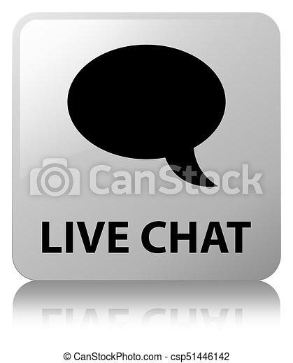 Live chat white square button - csp51446142