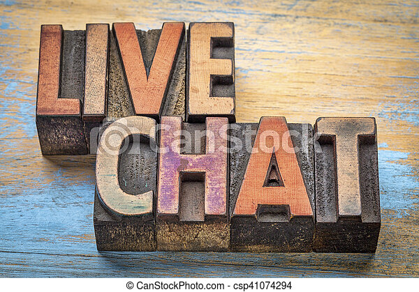 live chat word abstract - csp41074294
