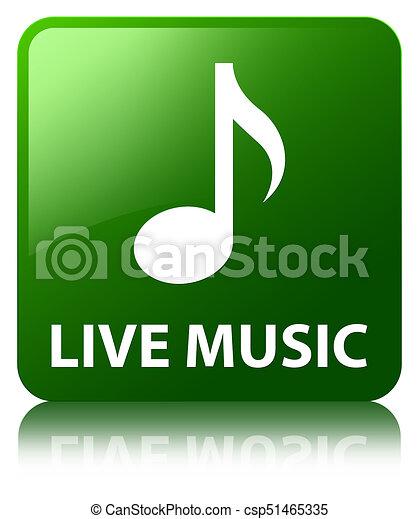 Live music green square button - csp51465335