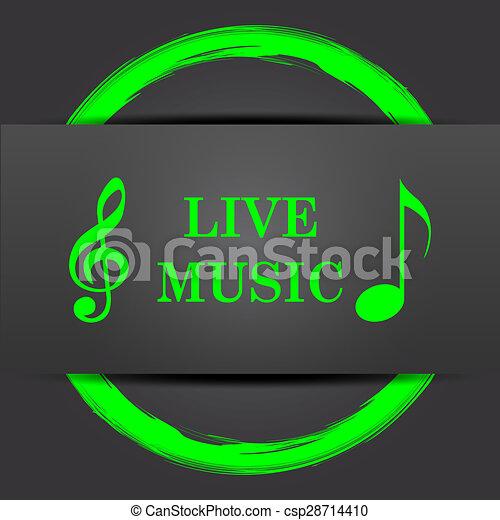 Live music icon - csp28714410
