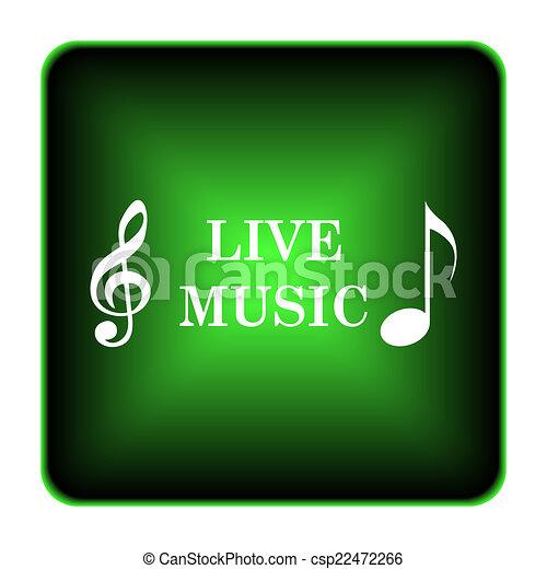 Live music icon - csp22472266