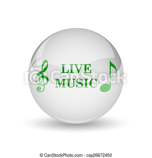 Live music icon - csp26672450