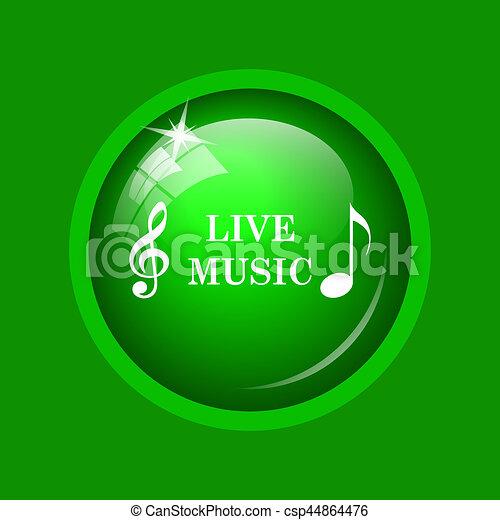 Live music icon - csp44864476
