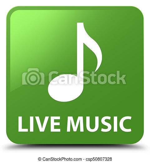 Live music soft green square button - csp50807328