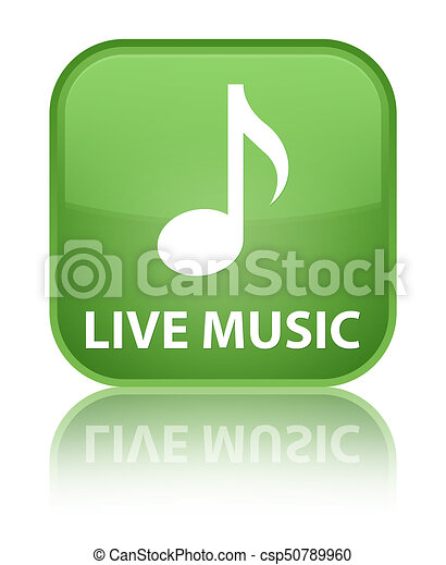Live music special soft green square button - csp50789960