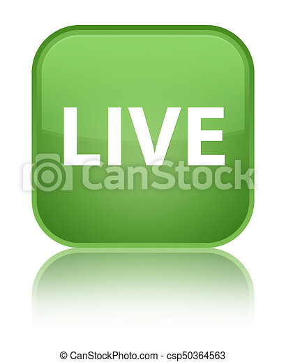 Live special soft green square button - csp50364563